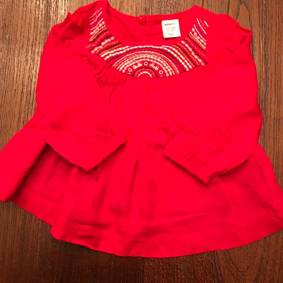 4c4cc7068 Old Navy Shirts & Tops | Baby Girl Top With Embroidery | Poshmark
